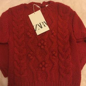 Zara Shirts & Tops - 💜3/30$💜Zara red sweater